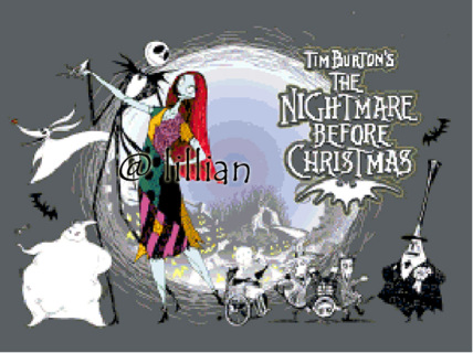 THE NIGHTMARES BEFORE CHRISTMAS CROSS STITCH PATTERNS / KITS ...